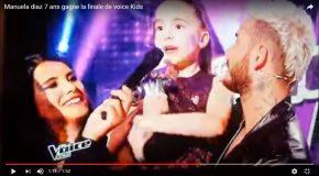 Manuela Diaz gagne le concours de The Voice Kids
