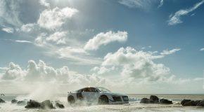 Mise en scène d'une star, la voiture de sport Audi R8