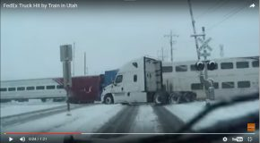 Un train percute un camion sur un passage à niveau, la neige est responsable!