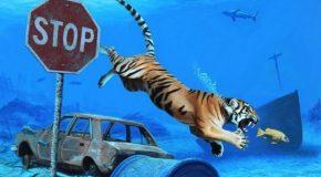 Josh Keyes, l'artiste Américain qui peint un monde futuriste où la nature reprend ses droits