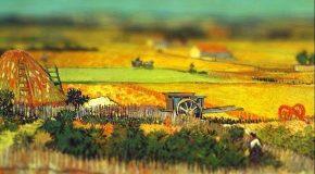 Les peintures de Van Gogh avec l'effet tilt-shift appliqué par l'illustratrice Serena Malyon