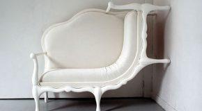 Des meubles du 18ème siècle d'un design beau et agréable mais déformé créé par la Coréenne Lila Jang