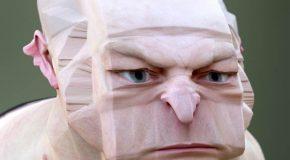 Un artiste s'amuse à faire des portraits décalés et c'est étrange comme résultat !