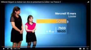 Atteinte de trisomie 21, Mélanie Ségard présente la météo sur France 2