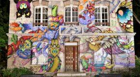 Les deux artistes Supakitch et Alexone transforment le Pavillon des Canaux de Paris