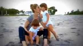 La chanson «La Mer et l'Enfant» de Céline Dion avec des montages photos