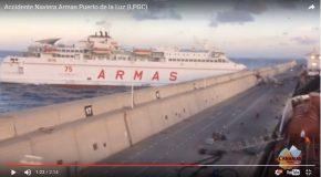 Un ferry percute un quai et s'arrête enfin, après l'accident!