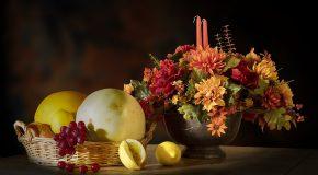 Corbeilles de fruits, dentelles, fleurs…Tout est là et c'est romantique!