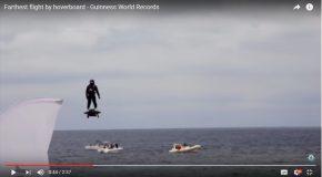 Record du monde de Flyboard, du Français Franky Zapata