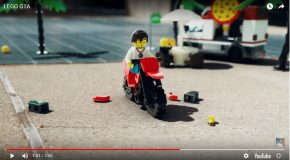 Belle animation en LEGO dans l'univers des jeux vidéo GTA