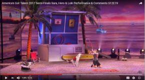 Un trio très complice à l'émission America's Got Talent 2017