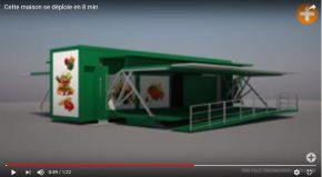 Un conteneur se transforme en jolie maison grâce à une technologie spéciale!