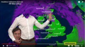 Pour Halloween, un présentateur de bulletin météo avait la tête ailleurs