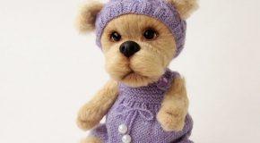 Une tricoteuse Russe réalise les plus splendides des peluches de Noël