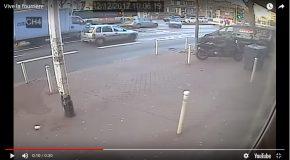 Une voiture remorquée se détache de sa remorqueuse en pleine route