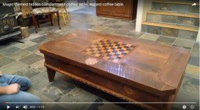 Une superbe table avec des surprises à l'intérieur!