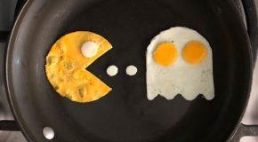 Avec les œufs de son petit-déjeuner, il crée des dessins à couper le souffle!