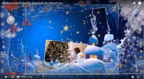 Des vœux, avec quelques clichés de gens heureux dans un décor de rêve!