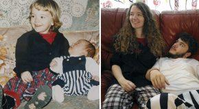 Pour l'anniversaire de mariage de leurs parents ils recréent leurs photos d'enfance