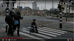 Les dégâts de la tempête David à Amsterdam aux Pays-Bas