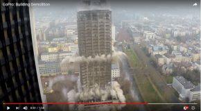 La démolition de deux buildings, c'est une scène trop belle!