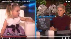 Une petite fille de trois ans qui est une vraie encyclopédie