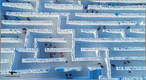 En Pologne se trouve le plus grand labyrinthe de glace du monde!