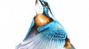 Elle est architecte, mais aussi une artiste qui peint les oiseaux