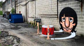 Les nouveaux détournements de street-art de l'Américain Tom Bob