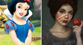 Les personnages de dessins animés et de vidéo relookés dans un style plus réel
