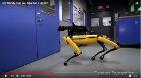 Ce robot ouvre les portes, c'est SpotMini de Boston Dynamics