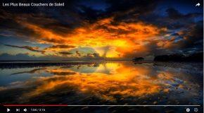 Le coucher du soleil avec les plus belles prises dans le monde