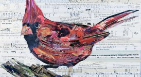 Elle réalise des collages d'animaux avec du papier recyclé et c'est trop beau!
