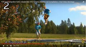 Compilation de scènes de gens qui s'amusent sur des trampolines