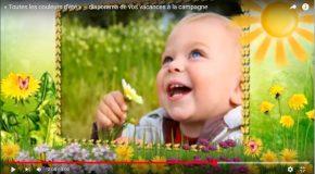 Les couleurs de l'été avec de beaux montages photos et une agréable musique