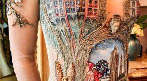 Une styliste Française crée les plus splendides des robes de soirée
