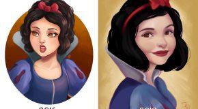 Elle dessine les princesses Disney à 2 ans d'intervalle pour voir si elle s'est améliorée