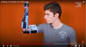 A 18 ans, il construit sa prothèse de bras en brique LEGO