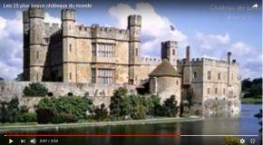 Tour du monde des plus beaux châteaux, plus jolie musique!