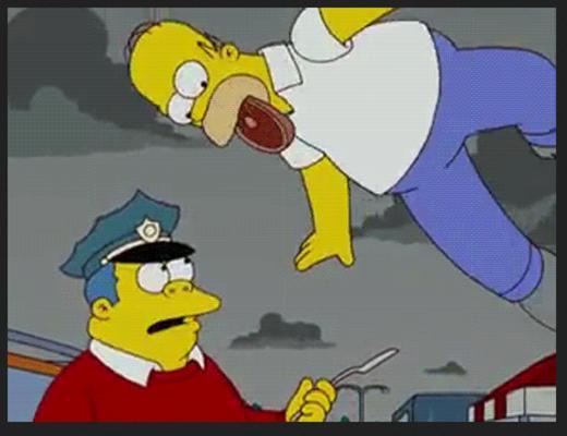 Homer Simpson est obsédé par la bière Duff, la bonne bouffe et sa femme Marge
