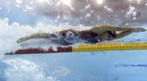 Quand les nageurs et les baigneurs se donnent à cœur joie dans la piscine